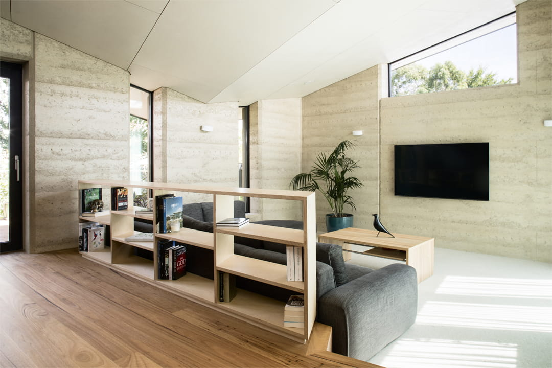 passive house rammed earth
