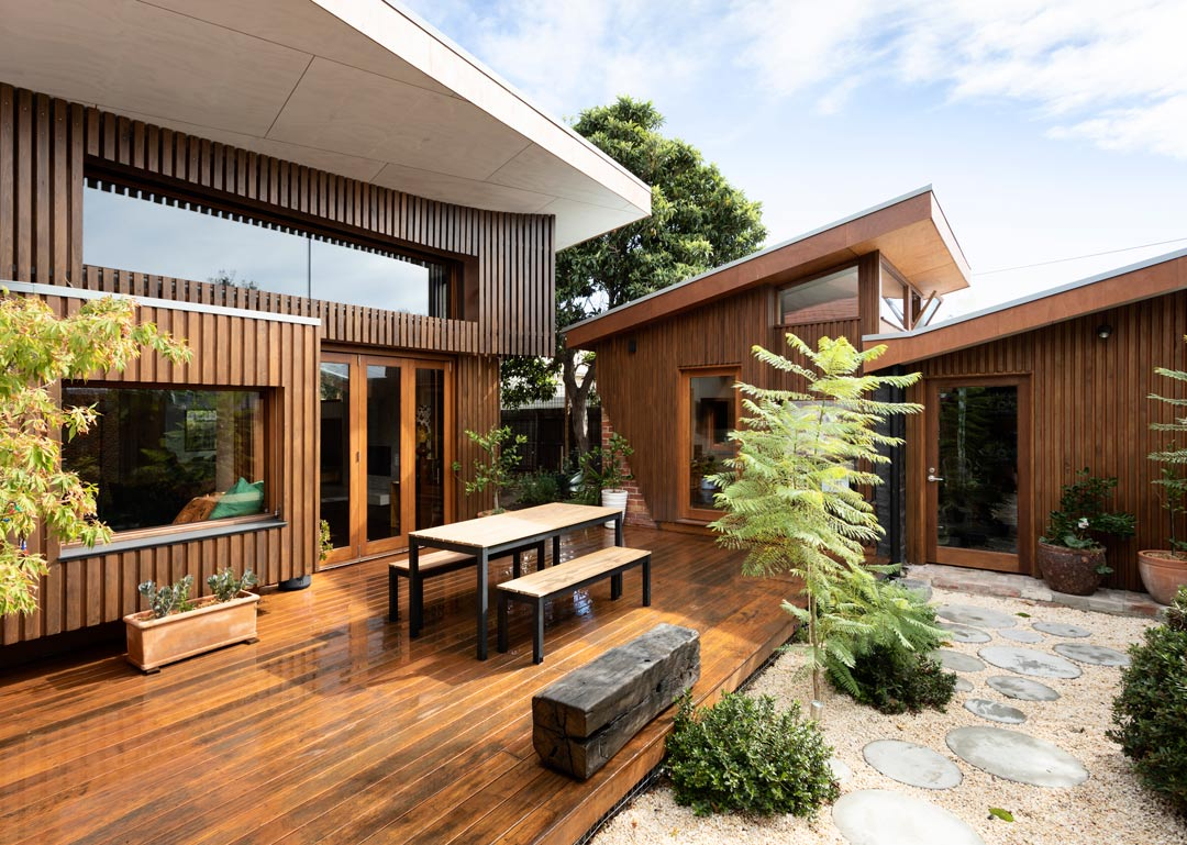newell pavilion timber renovation architecture design melbourne sustainability house heritage flemington